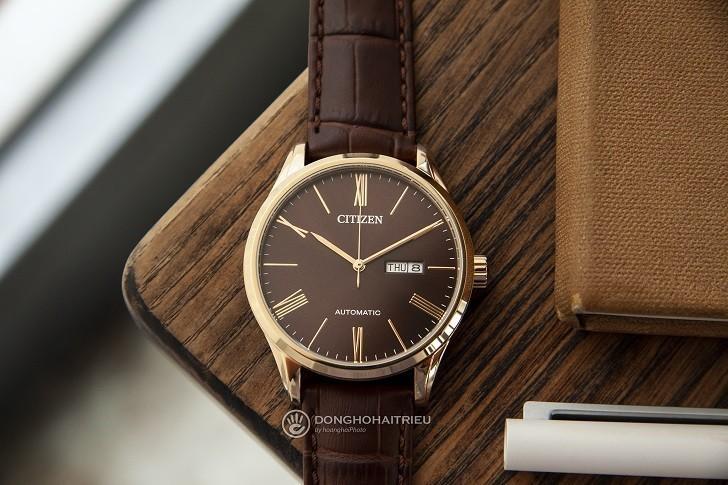 Đồng hồ Citizen NH8363-14X máy automatic, trữ cót 40 giờ - Ảnh: 4