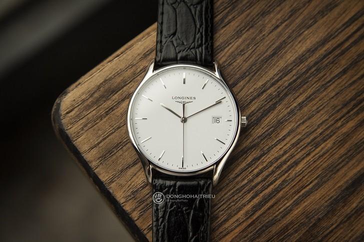 Đồng hồ Longines L4.759.4.12.2 siêu mỏng, máy swiss quartz - Ảnh: 10
