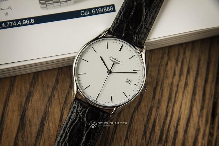 Đồng hồ Longines L4.759.4.12.2 siêu mỏng, máy swiss quartz - Ảnh: 2