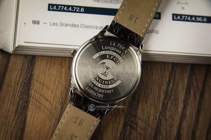 Đồng hồ Longines L4.759.4.12.2 siêu mỏng, máy swiss quartz - Ảnh: 7