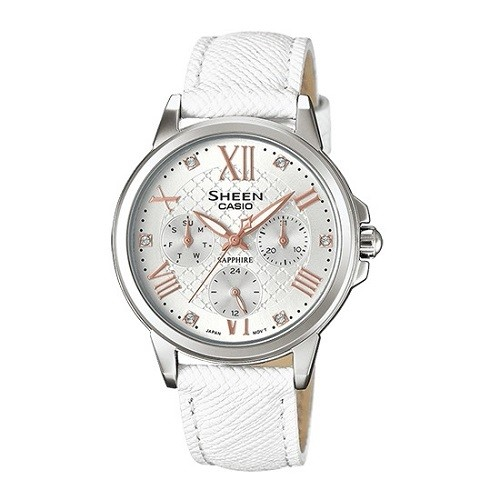 10 mẫu đồng hồ nữ màu trắng đẹp, thời trang giá rẻ nhất - Ảnh: Casio SHE-3511L-7AUDR