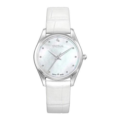 10 mẫu đồng hồ nữ màu trắng đẹp, thời trang giá rẻ nhất - Ảnh: Doxa D204SWL