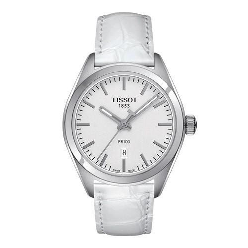 10 mẫu đồng hồ nữ màu trắng đẹp, thời trang giá rẻ nhất - Ảnh: Tissot T101.210.16.031.00