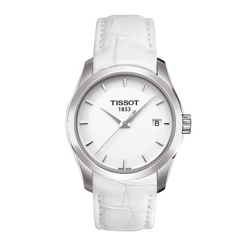10 mẫu đồng hồ nữ màu trắng đẹp, thời trang giá rẻ nhất - Ảnh: Tissot T035.210.16.011.00