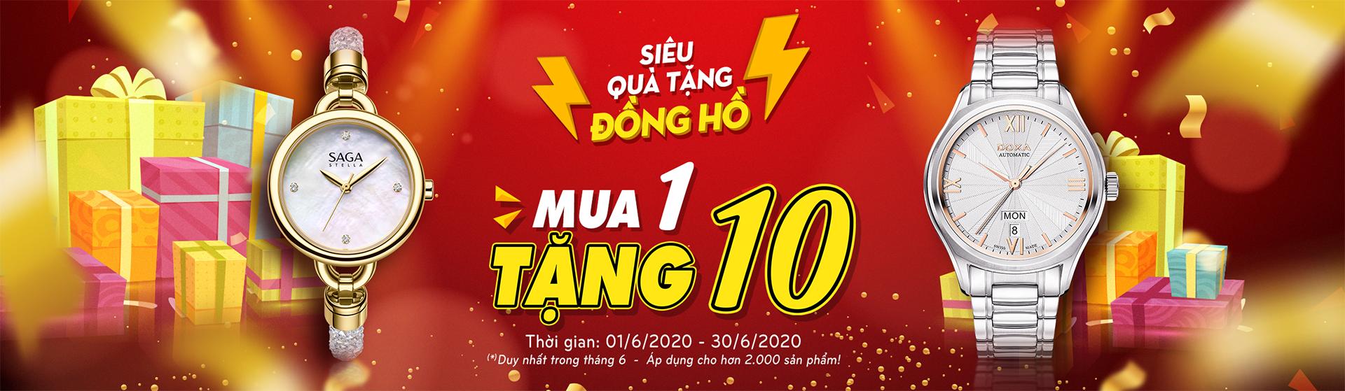 chuong trinh mua 1 tang 10