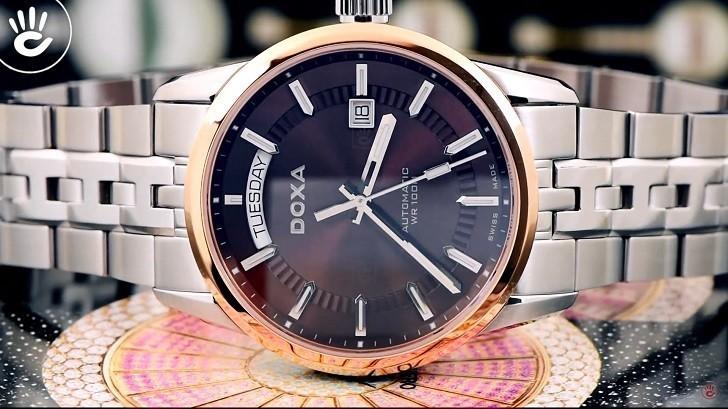 Đồng hồ Doxa D188RBR cao cấp, mang đậm phong cách cổ điển - Ảnh: 4