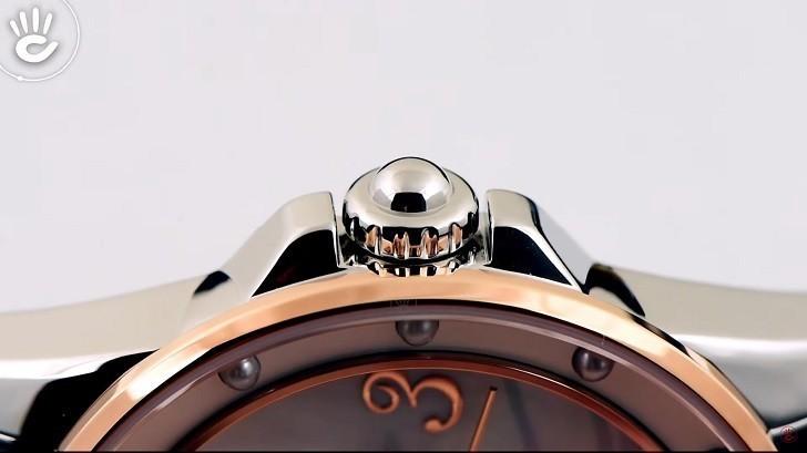 Đồng hồ Doxa D207RMW khảm xà cừ, đính ngọc trai độc đáo - Ảnh: 4