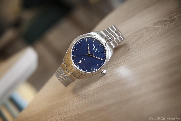 Đồng hồ nam Tissot T101.410.11.041.00 với mặt số xanh navy - Ảnh 1