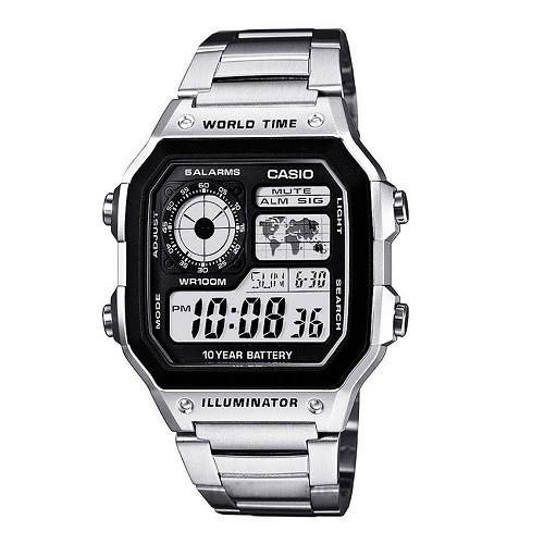 10 mẫu đồng hồ nam Cần Thơ bán chạy nhất hiện nay - Ảnh: Casio AE-1200WHD-1AVDF