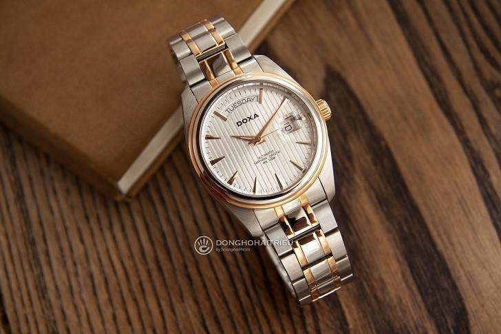 Đồng hồ Doxa D122RSV với thiết kế sang trọng, đẳng cấp - Ảnh: 3