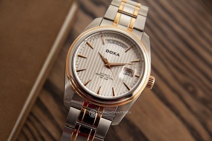 Đồng hồ Doxa D122RSV với thiết kế sang trọng, đẳng cấp - Ảnh: 1