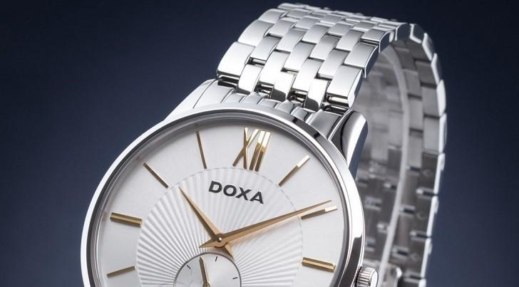 Đồng hồ Doxa D155SST với họa tiết vân Guilloché độc đáo - Ảnh: 3