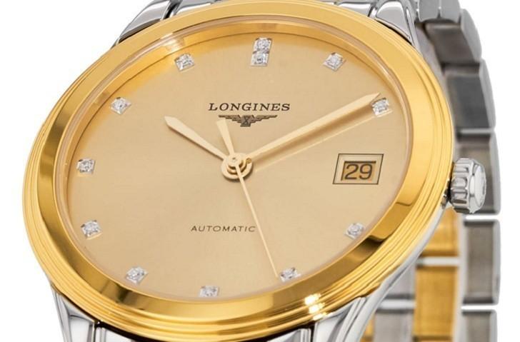 Đồng hồ Longines L4.774.3.37.7 12 viên kim cương -12 cọc số - Ảnh 2