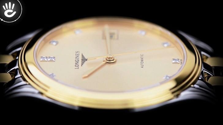 Đồng hồ Longines L4.774.3.37.7 12 viên kim cương -12 cọc số - Ảnh 5