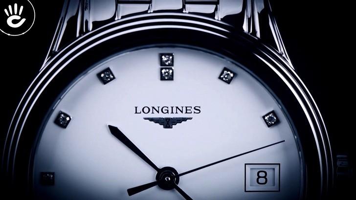 Đồng hồ Longines L4.774.4.27.6 mặt số đính 12 viên kim cương - Ảnh 3