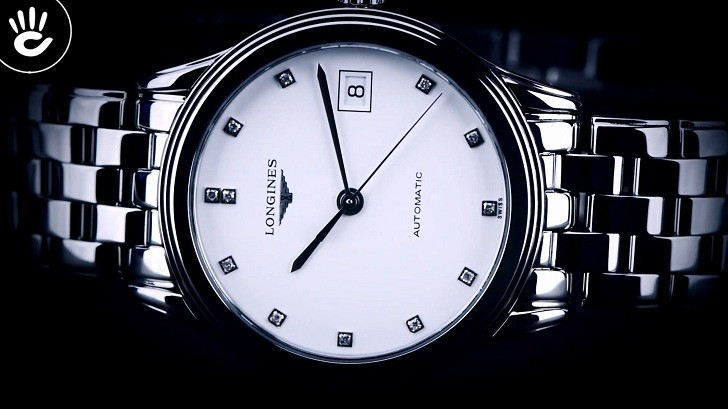 Đồng hồ Longines L4.774.4.27.6 mặt số đính 12 viên kim cương - Ảnh 5