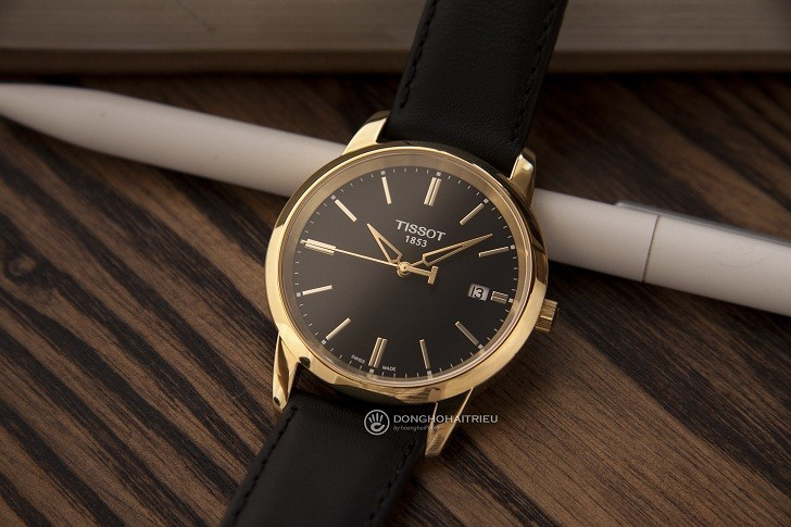 Đồng hồ Tissot T033.410.36.051.01 dây da chính hãng bền bỉ - Ảnh 3
