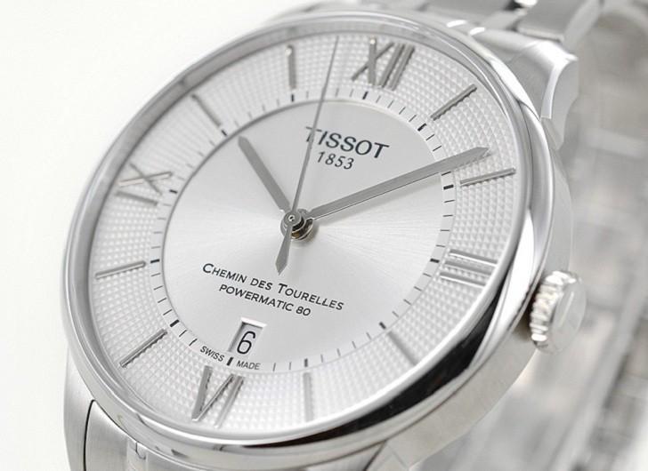 Đồng hồ Tissot T099.407.11.038.00 máy cơ đạt 80 giờ trữ cót - Ảnh 3