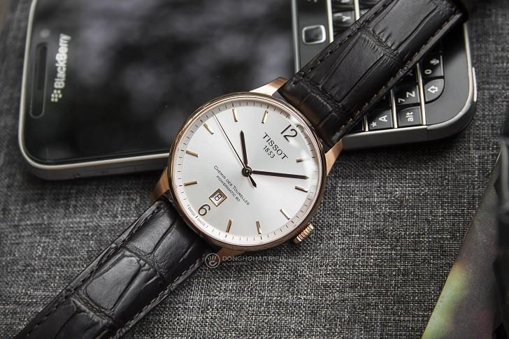 Đồng hồ Tissot T099.407.36.037.00 dây da dập vân cao cấp - Ảnh 1