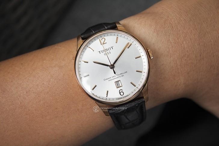 Đồng hồ Tissot T099.407.36.037.00 dây da dập vân cao cấp - Ảnh 2