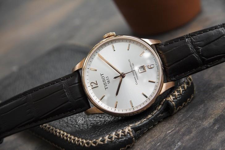 Đồng hồ Tissot T099.407.36.037.00 dây da dập vân cao cấp - Ảnh 3