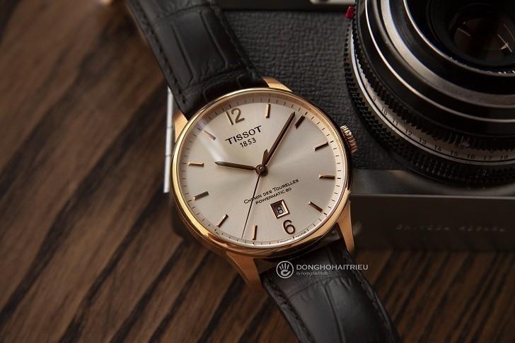 Đồng hồ Tissot T099.407.36.037.00 dây da dập vân cao cấp - Ảnh 6