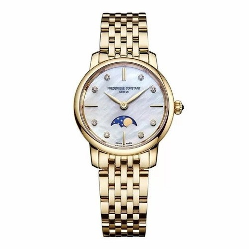 TOP mẫu đồng hồ Thụy Sỹ nữ cao cấp theo phong cách tối giản - Mẫu: Frederique Constant FC-206MPWD1S5B