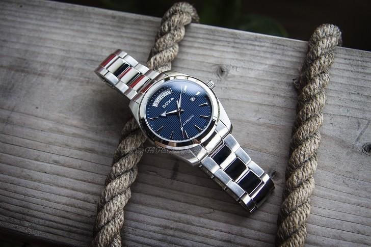 Đồng hồ Doxa D205SBU mặt số xanh cuốn hút, vỏ thép không gỉ bền bỉ - Ảnh: 1