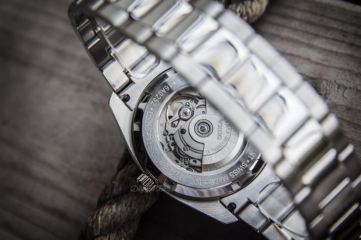 Đồng hồ Doxa D205SBU mặt số xanh cuốn hút, vỏ thép không gỉ bền bỉ - Ảnh: 5