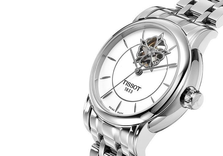 Đồng hồ Tissot T050.207.11.011.04 trang trí hình hoa lộ cơ - Ảnh 5