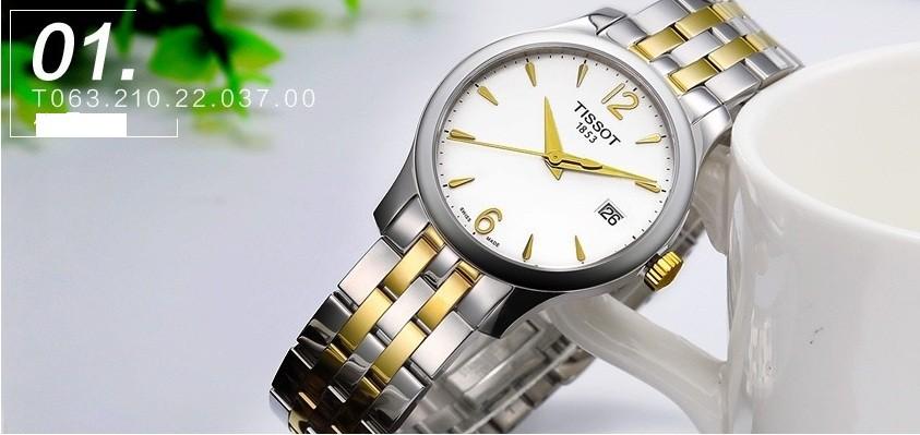 Đồng hồ Tissot T063.210.22.037.00 bộ máy quartz chính xác - Ảnh 3