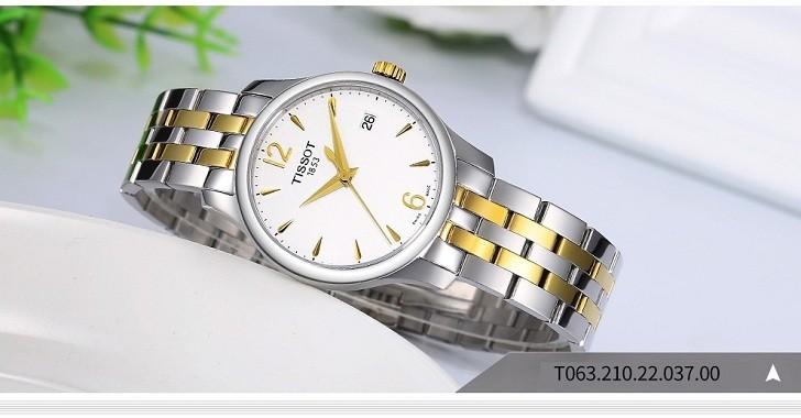 Đồng hồ Tissot T063.210.22.037.00 bộ máy quartz chính xác - Ảnh 4