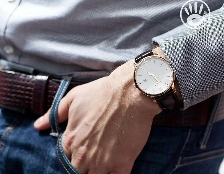 Đồng hồ Tissot T063.610.36.037.00 dây đeo da chính hãng - Ảnh 1