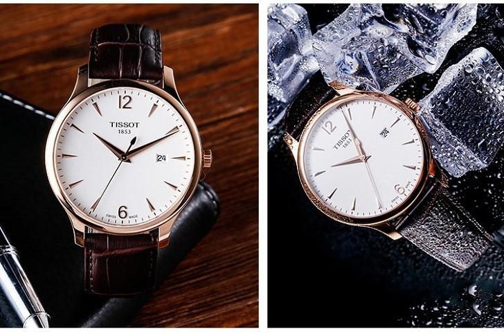 Đồng hồ Tissot T063.610.36.037.00 dây đeo da chính hãng - Ảnh 2