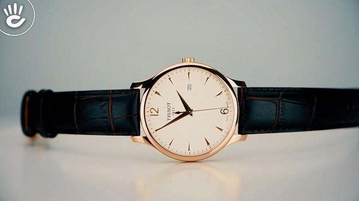 Đồng hồ Tissot T063.610.36.037.00 dây đeo da chính hãng - Ảnh 4
