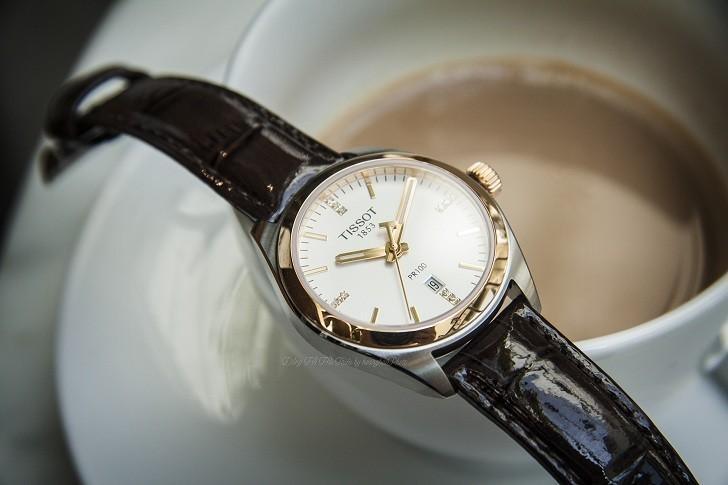 Đồng hồ Tissot T101.210.26.036.00 vạch số đính kim cương - Ảnh 1