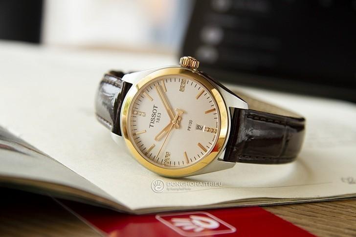 Đồng hồ Tissot T101.210.26.036.00 vạch số đính kim cương - Ảnh 2