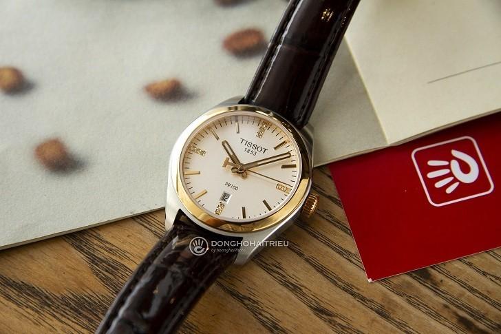 Đồng hồ Tissot T101.210.26.036.00 vạch số đính kim cương - Ảnh 3