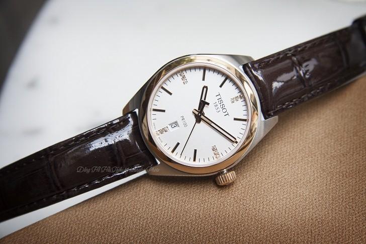 Đồng hồ Tissot T101.210.26.036.00 vạch số đính kim cương - Ảnh 4