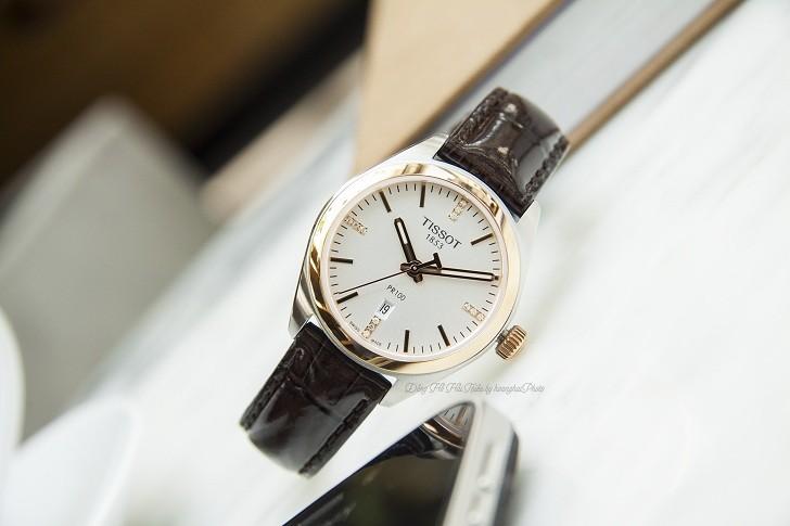 Đồng hồ Tissot T101.210.26.036.00 vạch số đính kim cương - Ảnh 7