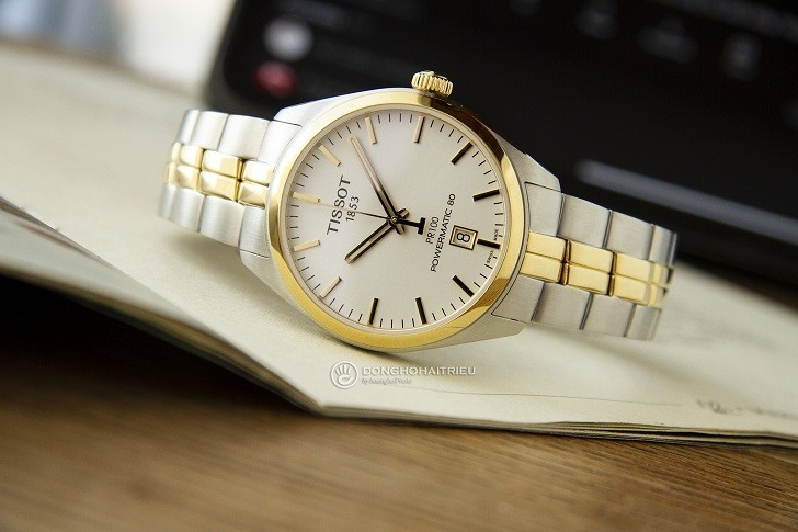 Đồng hồ Tissot T101.407.22.031.00 dây kim loại demi mạ vàng - Ảnh 2