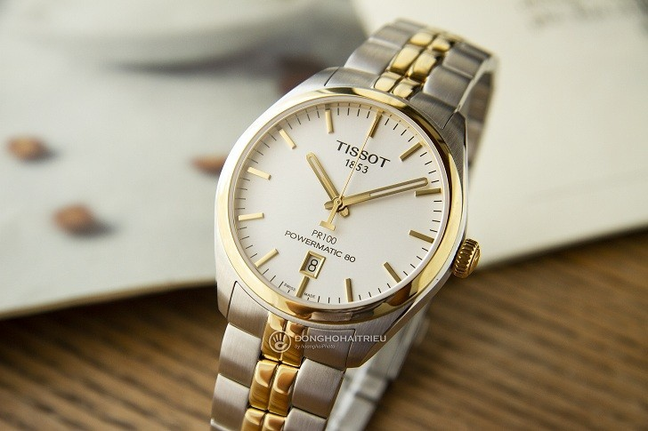 Đồng hồ Tissot T101.407.22.031.00 dây kim loại demi mạ vàng - Ảnh 3