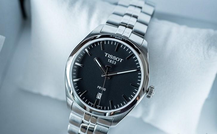 Đồng hồ Tissot T101.410.11.051.00 kim chỉ dạ quang nổi bật - Ảnh 1