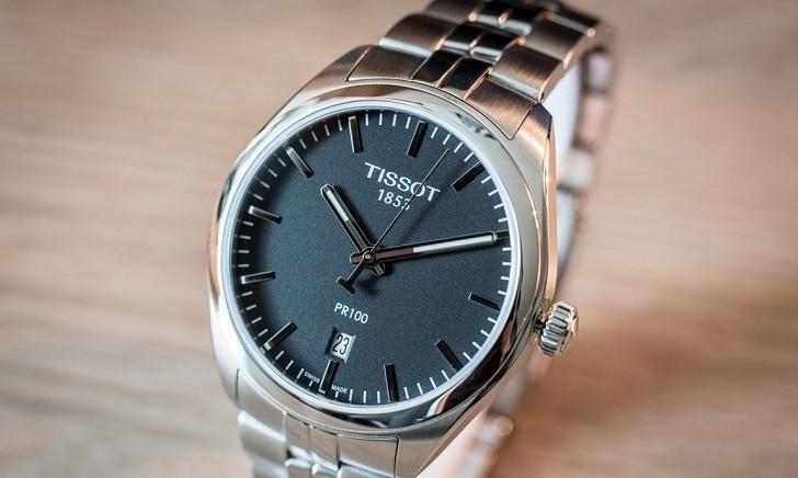 Đồng hồ Tissot T101.410.11.051.00 kim chỉ dạ quang nổi bật - Ảnh 2