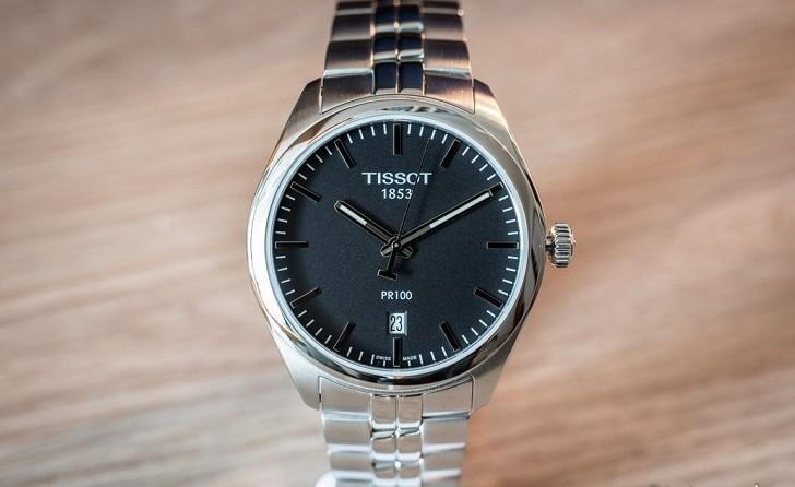 Đồng hồ Tissot T101.410.11.051.00 kim chỉ dạ quang nổi bật - Ảnh 3