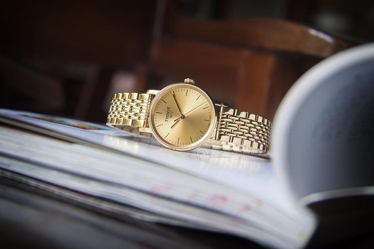 Đồng hồ Tissot T109.210.33.021.00 thiết kế mạ vàng toàn bộ - Ảnh 1
