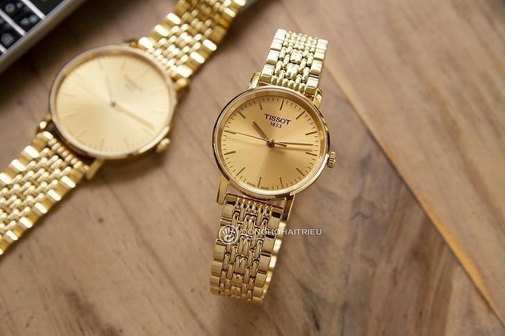 Đồng hồ Tissot T109.210.33.021.00 thiết kế mạ vàng toàn bộ - Ảnh 7