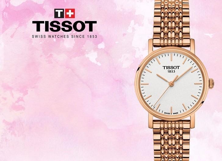 Đồng hồ Tissot T109.210.33.031.00 màu vàng hồng thời trang - Ảnh 1
