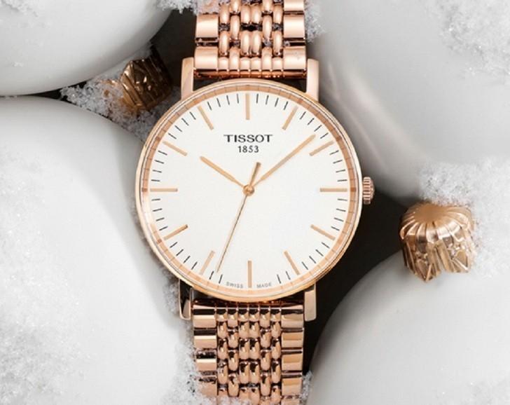 Đồng hồ Tissot T109.210.33.031.00 màu vàng hồng thời trang - Ảnh 2