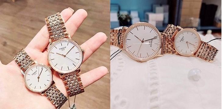 Đồng hồ Tissot T109.210.33.031.00 màu vàng hồng thời trang - Ảnh 3
